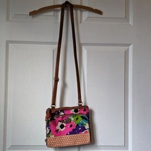 Small floral crossbody bag